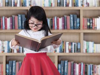 Generic Stock Images - Reading in Library