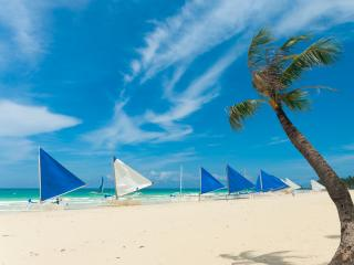 Philippines - Sailing boats on White Beach, Boracay Island