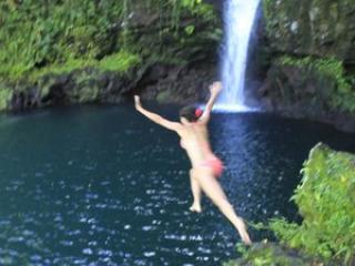 Saviia Island Southern Tour - Afu Aau Waterfall