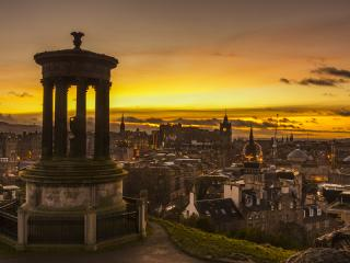 Sunset Over Edinburgh, Scotland