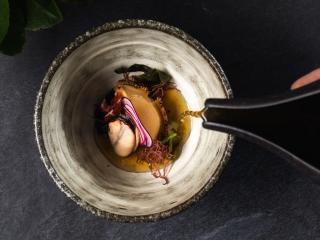 Dining - Abalone l umami broth l garden turnip