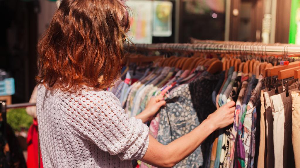 Generic Stock Images - Street Market, Clothes