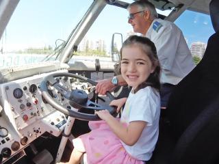 Girl driving Aquaduck