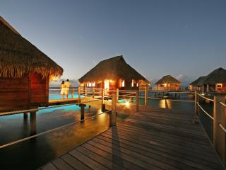 Bungalows in the evening