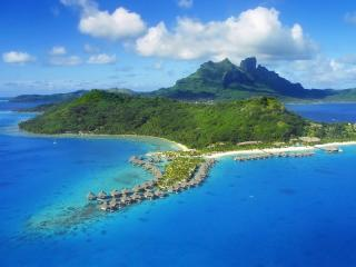 Bora Bora with Mount Otemanu in Background