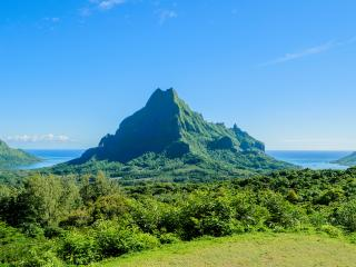 Rotui Mountain, Cook\'s Bay and Opunohu Bay, Moorea