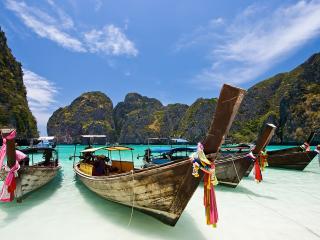 Long Tail Boats Maya Bay