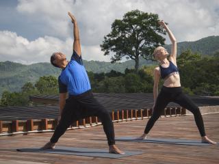 Rooftop Yoga Activity