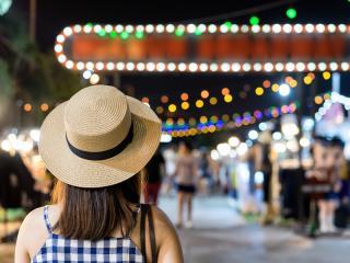 bangkok, walk, street market, market, thailand, walking