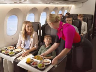Qantas food service