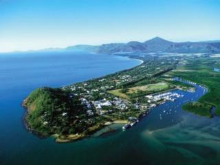 Aerial shot of Port Douglas