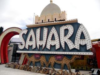 Sahara Sign, Neon Boneyard