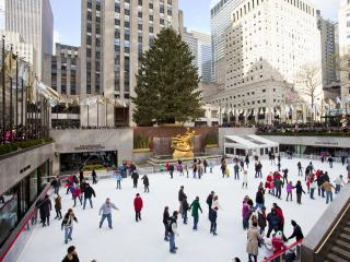 Skating at the Rockefeller Center