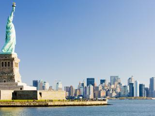Statue of Liberty and Manhattan New York