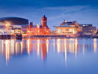Wales, Cardiff Bay Cityscape