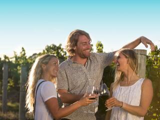 McLeod Tours - Wine tasting in the vineyard